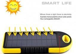 شارژر پاور بانک مدل خورشیدی